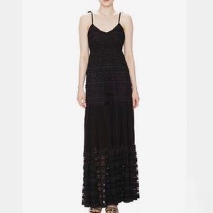 Marabelle Black lace maxi dress size XS